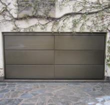 Porte de garage sectionnelle a recouvrement - Recouvrement metallique atelier Deville